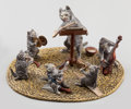 Bronze:European, An Austrian Cold Painted Bronze Figural Group: KittenOrchestra, 20th century. 4 inches wide (10.2 cm). ...
