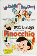 """Movie Posters:Animation, Pinocchio & Other Lot (Buena Vista, R-1971). One Sheets (2) (27"""" X 41""""). Animation.. ... (Total: 2 Items)"""