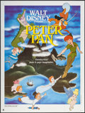 "Movie Posters:Animation, Peter Pan & Other Lot (Walt Disney Productions, R-1986). FrenchGrande (47"" X 63"") & British Quad (30"" X 40""). Animation.. ...(Total: 2 Items)"