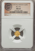 California Fractional Gold , 1872 25C Indian Octagonal 25 Cents, BG-791, R.3, MS63 NGC. A lovelyCalifornia fractional piece that exhibits brilliant yel...