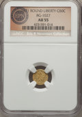 California Fractional Gold , 1871 50C Liberty Round 50 Cents, BG-1027, R.3, AU55 NGC. Anoutstanding California fraction gold piece with brilliant yello...
