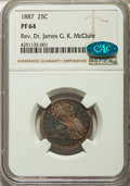 Proof Seated Quarters, 1887 25C PR64 NGC. CAC. Briggs 2-B....