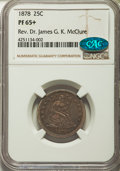 Proof Seated Quarters, 1878 25C PR65+ NGC. CAC. Briggs 4-D....