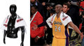 Basketball Collectibles:Balls, 2016 Kobe Bryant Los Angeles Lakers Final 'Body Armor' Game Towel Worn During Farewell Speech....