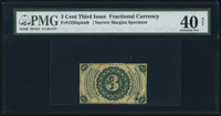 Fr. 1226SP 3¢ Third Issue Narrow Margin Back PMG Extremely Fine 40 Net