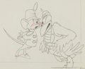 Animation Art:Production Drawing, Dumbo Timothy Mouse and Jim Dandy Crow Animation Drawing(Walt Disney, 1941)....