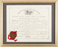 Autographs:U.S. Presidents, 1886 Document Signed by President Grover Cleveland, AppointingCharles S. Clark Postmaster of Tombstone. ...