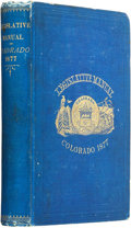 Books:Americana & American History, Thomas B. Corbett. The Legislative Manual, of the State ofColorado, Comprising the History of Colorado, Annals of theL...