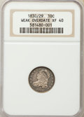 Bust Dimes, 1830/29 10C Weak Overdate XF40 NGC. NGC Census: (1/15). PCGSPopulation (2/24). Mintage: 510,000. Numismedia Wsl. Price for...