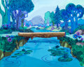 Animation Art:Painted cel background, It's the Wolf Painted Background (Hanna-Barbera, 1969)....(Total: 2 )