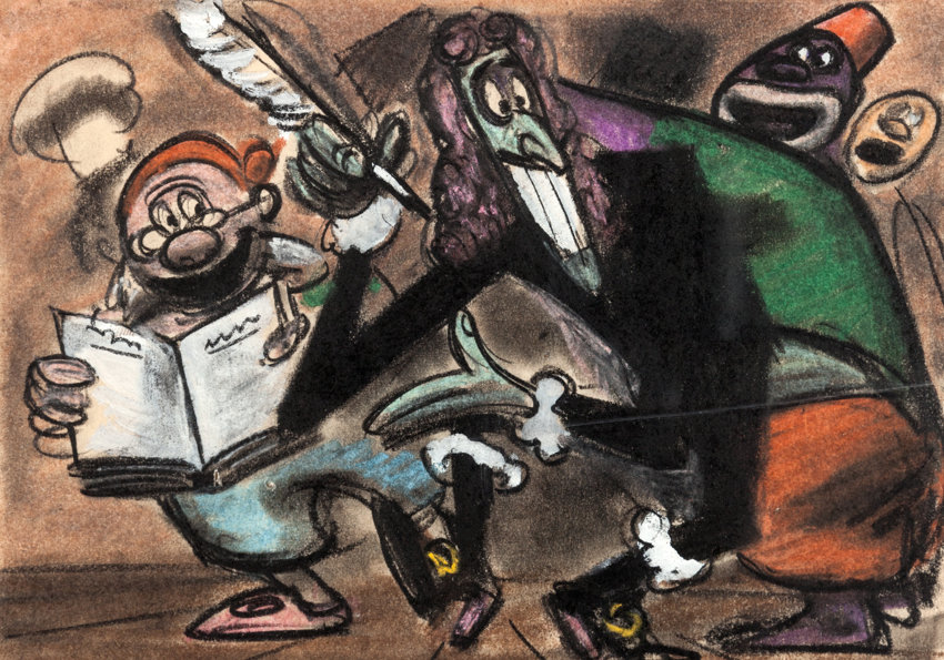 Animation ArtProduction Drawing Peter Pan Captain Hook Mr Smee And