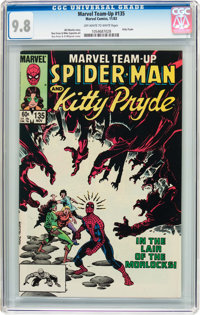 Marvel Team-Up #135 Spider-Man and Kitty Pride (Marvel, 1983) CGC NM/MT 9.8 Off-white to white pages