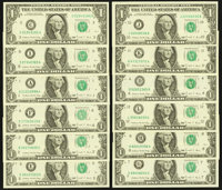 Complete District Set Fr. 1914-A-L $1 1988 Federal Reserve Notes Choice Crisp Uncirculated or Better
