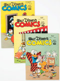 Golden Age (1938-1955):Cartoon Character, Walt Disney's Comics and Stories #80, 81, and 84 Group (Dell, 1947) Condition: Average VF-.... (Total: 3 Item)