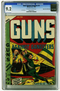 Guns Against Gangsters #3 Mile High pedigree (Novelty Press, 1949) CGC NM- 9.2 Off-white to white pages. L. B. Cole cove...