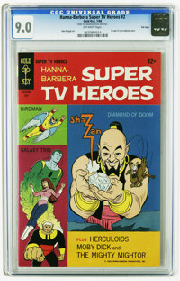 Hanna-Barbera Super TV Heroes #2 File Copy (Gold Key, 1968) CGC VF/NM 9.0 Off-white pages. Birdman, Galaxy Trio, and Sha...