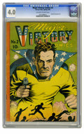 Golden Age (1938-1955):Superhero, Major Victory #2 (H. Clay Glover Company, 1944) CGC VG 4.0 Off-white to white pages. Dynamic Boy appearance. Charles Sultan ...