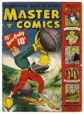 Golden Age (1938-1955):Science Fiction, Master Comics #4 (Fawcett, 1940) Condition: PR. Very brittle.Overstreet 2005 GD 2.0 value = $173....