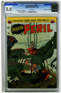 Golden Age (1938-1955):Horror, Operation Peril #10 Mile High pedigree (ACG, 1952) CGC VG/FN 5.0White pages. Ken Bald cover. Art by Rocco Mastroserio, Leon...