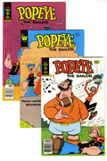 Bronze Age (1970-1979):Cartoon Character, Popeye Group (Gold Key, 1978-82) Condition: Average VF+. This fullshort box lot features Popeye #142 (14 copies), 147 (...