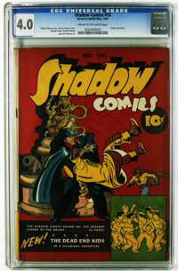 Shadow Comics #10 (Street & Smith, 1941) CGC VG 4.0 Cream to off-white pages. Origin of Iron Ghost. Dead End Kids fe...