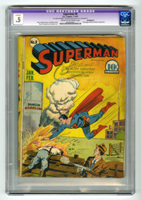 Superman #8 (DC, 1941) CGC Apparent PR 0.5 Cream to off-white pages. Fred Ray cover. Interior art by Wayne Boring, Joe S...