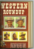 Golden Age (1938-1955):Miscellaneous, Dell Giant Comics - Western Roundup #5-8 Bound Volume (Dell, 1954). These are Western Publishing file copies of Western Ro...