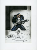 Original Comic Art:Miscellaneous, Simon Bisley - Punisher Sketch Original Art (undated). That FrankCastle is a bad mutha -- hush your mouth! The Biz captures...