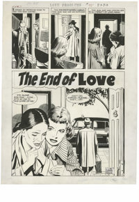 """John Prentice (attributed) - Romance Stories of True Love #45 Complete 5-page Story """"The End of Love"""" Original..."""