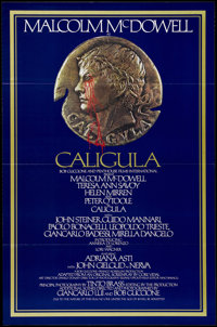 "Caligula (Analysis Film, 1980). One Sheet (27"" X 41""). Malcolm McDowell is back for a little bit more of ""..."