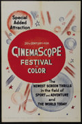 """Movie Posters:Short Subject, CinemaScope Stock (20th Century Fox, 1955). One Sheet (27"""" X 41""""). When television came into wide use in the early 1950s, Ho..."""