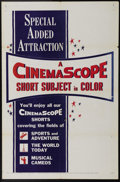 "Movie Posters:Short Subject, CinemaScope Stock (20th Century Fox, 1955). One Sheet (27"" X 41"").Originally called Cinerama, CinemaScope changed the way t..."