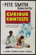 "Movie Posters:Short Subject, Curious Contests (MGM, 1950). One Sheet (27"" X 41""). Pete Smith'sshort uses newsreel footage of strange competitions, inclu..."