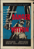 """Movie Posters:War, Danger Within (British Lion Film Corp., 1959). British One Sheet(27"""" X 41""""). A group of British prisoners in an Italian POW..."""