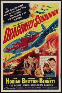 "Dragonfly Squadron (Allied Artists, 1954). One Sheet (27"" X 41""). Air Force Major Matthew Brady (John Hodiak)..."