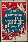 "Movie Posters:Short Subject, Grantland Rice Sportlight Stock (Paramount, 1950). One Sheet (27"" X41""). Before ESPN there was the Grantland Rice Sportligh..."