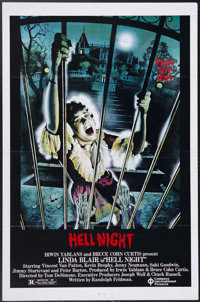 """Hell Night (Compass International, 1981). One Sheet (27"""" X 41""""). Shot in only 40 days, this film stars Linda B..."""