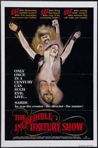 """The Incredible Torture Show (AFDC, 1976). One Sheet (27"""" X 41""""). In true Troma film style, this one is not for..."""
