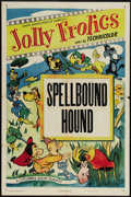 "Movie Posters:Animated, Jolly Frolics Stock (Columbia, R-1950). One Sheet (27"" X 41""). ThisJolly Frolics short entitled ""Spellbound Hound"" stars Ji..."