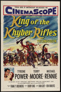 "Movie Posters:Adventure, King of the Khyber Rifles (20th Century Fox, 1954). One Sheet (27""X 41""). Captain Alan King (Tyrone Power), a mixed race Br..."