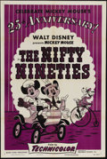 "Movie Posters:Animated, The Nifty Nineties (RKO, R-1953). One Sheet (27"" X 41""). Mickey Mouse, Minnie Mouse and Goofy star in this wholesome favorit..."