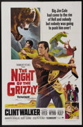 """Movie Posters:Adventure, The Night of the Grizzly (Paramount, 1966). One Sheet (27"""" X 41""""). A lawman (Clint Walker) retires to Wyoming with his famil..."""