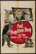 "Movie Posters:Adventure, Pal, Fugitive Dog (RKO, 1950). One Sheet (27"" X 41""). Flame theWonder Dog stars as Pal, a dog that has been trained by a th..."