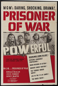 """Prisoner of War (MGM, 1954). One Sheet (27"""" X 41""""). Ronald Reagan stars as an American officer who volunteers..."""