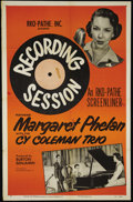 "Movie Posters:Short Subject, Screenliner: Recording Session (RKO, 1951). One Sheet (27"" X 41"").One of the RKO-Pathe Screenliner series, this short took ..."