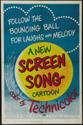"Movie Posters:Animated, Screen Song Cartoons Stock (Paramount, 1950). One Sheet (27"" X41""). Screen Song cartoons were crowd favorites in the 1950s...."