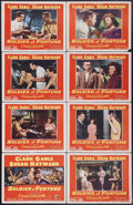 "Movie Posters:Adventure, Soldier of Fortune (20th Century Fox, 1955). Lobby Card Set of 8(11"" X 14""). Clark Gable stars in this story of a mercenary...(Total: 8 Items)"