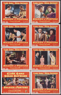 "Soldier of Fortune (20th Century Fox, 1955). Lobby Card Set of 8 (11"" X 14""). Clark Gable stars in this story..."