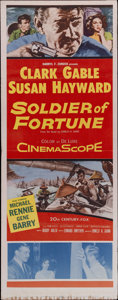 "Movie Posters:Adventure, Soldier of Fortune (20th Century Fox, 1955). Insert (14"" X 36"").Clark Gable stars as an American mercenary running a succes..."