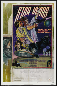 """Star Wars (20th Century Fox, 1977). One Sheet (27"""" X 41""""). Style """"D."""" To preserve the memorable dram..."""